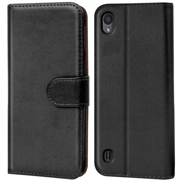 Safers Basic Wallet für ZTE Blade A5 2019 Hülle Bookstyle Klapphülle Handy Schutz Tasche