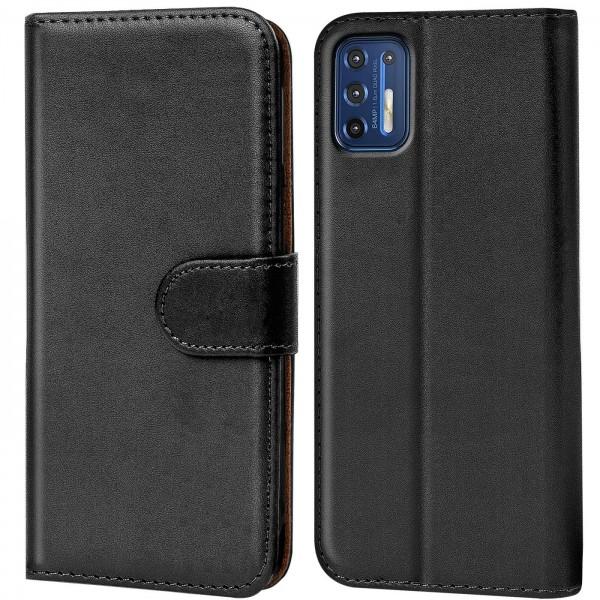 Safers Basic Wallet für Motorola Moto G9 Plus Hülle Bookstyle Klapphülle Handy Schutz Tasche