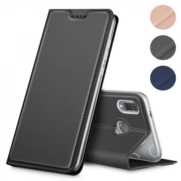 Safers Electro Flip für Huawei P20 Lite Hülle Magnet Case Handy Tasche Klapphülle