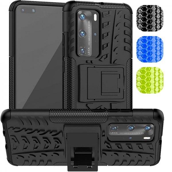 Safers Outdoor Hülle für Huawei P40 Pro Case Hybrid Armor Cover Schutzhülle