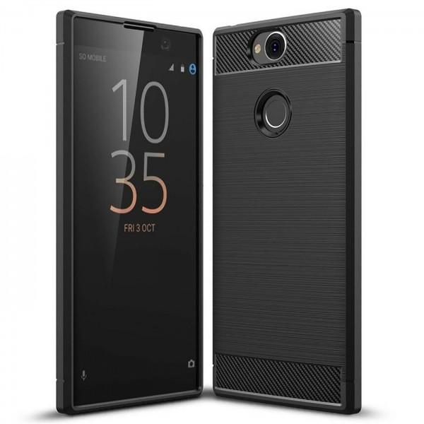 Safers Carbon Hülle für Sony Xperia XA2 Schutzhülle Handy Case Cover