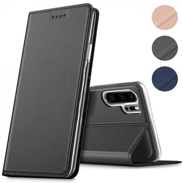 Safers Electro Flip für Huawei P30 Pro Hülle Magnet Case Handy Tasche Klapphülle