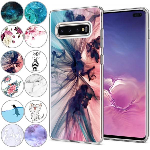 Safers IMD Case für Samsung Galaxy S10 Plus Hülle Silikon Case mit Muster Schutzhülle