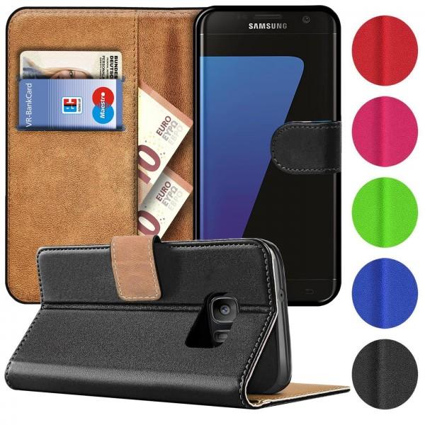 Safers Basic Wallet für Samsung Galaxy S7 Edge Hülle Bookstyle Klapphülle Handy Schutz Tasche