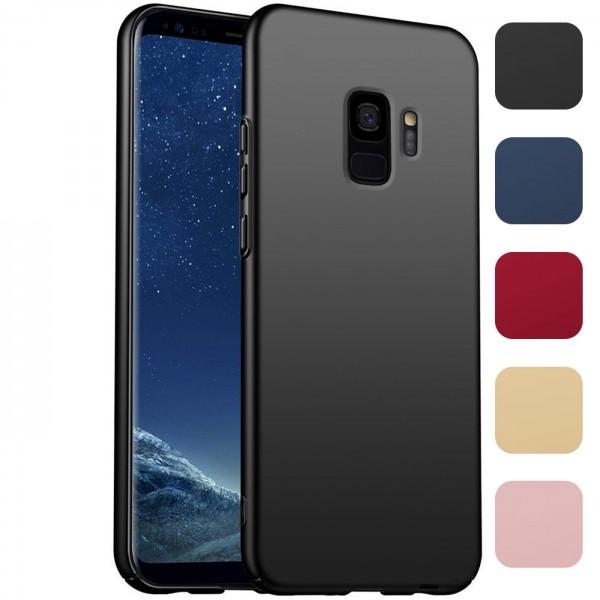 Safers Classic Plain für Samsung Galaxy S9 Hülle Slim Cover Matt Schutzhülle