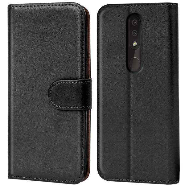 Safers Basic Wallet für Nokia 4.2 Hülle Bookstyle Klapphülle Handy Schutz Tasche