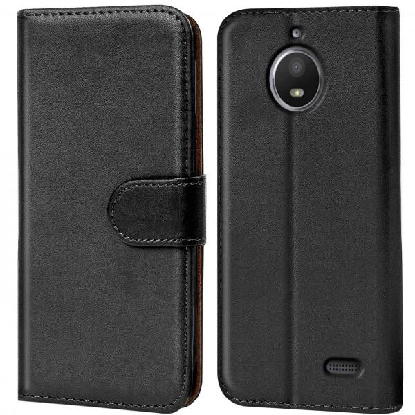 Safers Basic Wallet für Motorola Moto E4 Hülle Bookstyle Klapphülle Handy Schutz Tasche