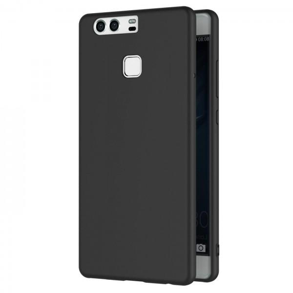 Safers Classic TPU für Huawei P9 Schutzhülle Hülle Schwarz Handy Case
