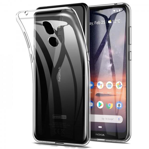 Safers Zero Case für Nokia 3.2 Hülle Transparent Slim Cover Clear Schutzhülle