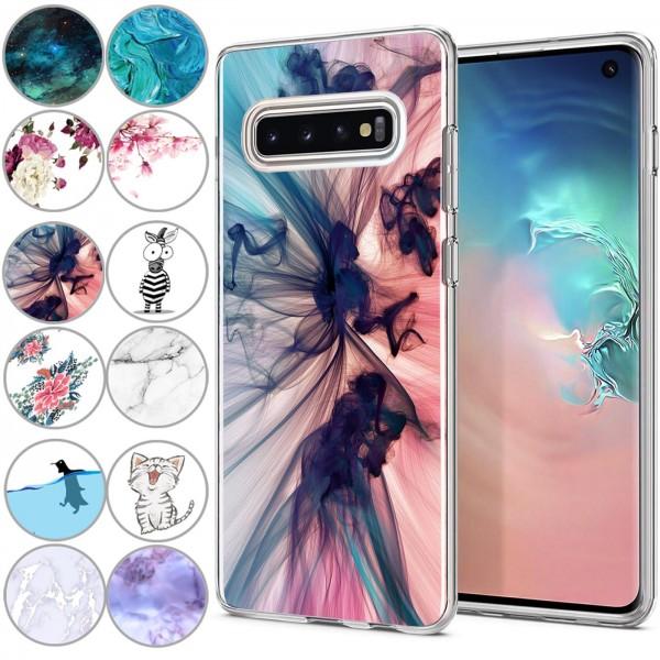 Safers IMD Case für Samsung Galaxy S10 Hülle Silikon Case mit Muster Schutzhülle
