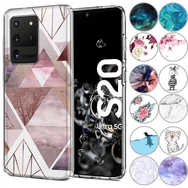 Safers IMD Case für Samsung Galaxy S20 Ultra Hülle Silikon Case mit Muster Schutzhülle