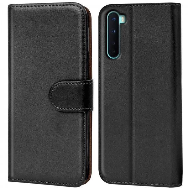 Safers Basic Wallet für OnePlus Nord Hülle Bookstyle Klapphülle Handy Schutz Tasche