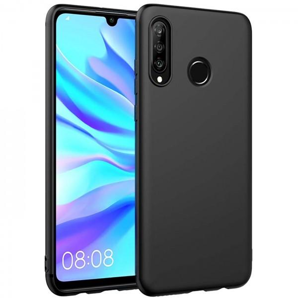 Safers Classic TPU für Huawei Y6p Schutzhülle Hülle Schwarz Handy Case