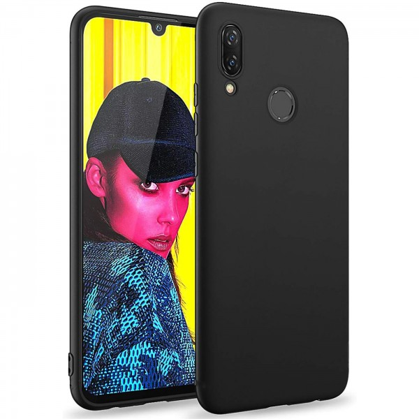 Safers Classic TPU für Huawei P Smart 2019 Schutzhülle Hülle Schwarz Handy Case
