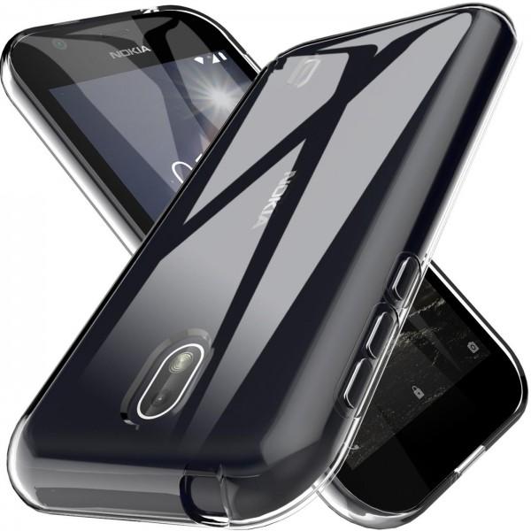 Safers Zero Case für Nokia 1 Hülle Transparent Slim Cover Clear Schutzhülle