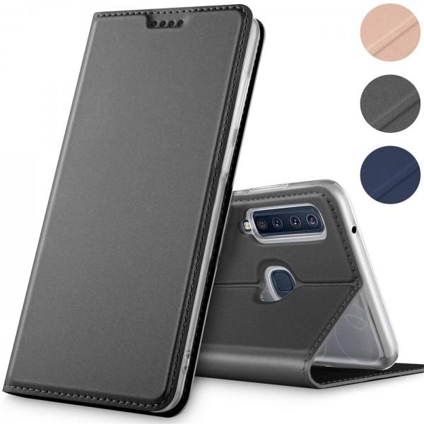 Safers Electro Flip für Samsung Galaxy A9 2018 Hülle Magnet Case Handy Tasche Klapphülle