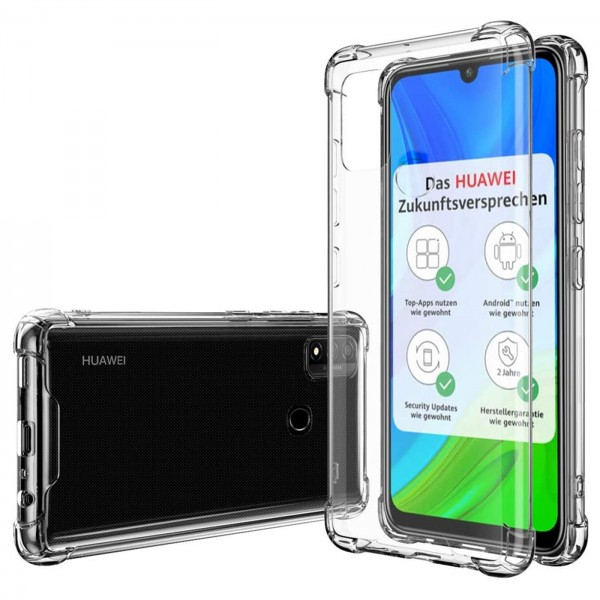 Safers Rugged TPU für Huawei P Smart 2020 Schutzhülle Anti Shock Handy Case Transparent Cover