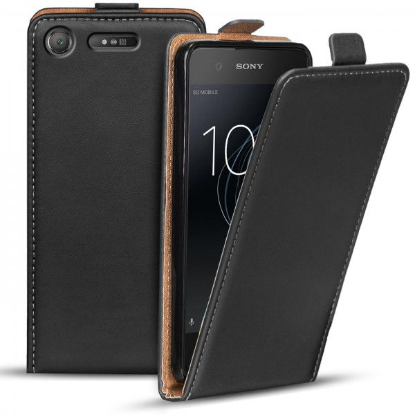 Safers Flipcase für Sony Xperia XZ1 Compact Hülle Klapphülle Cover klassische Handy Schutzhülle