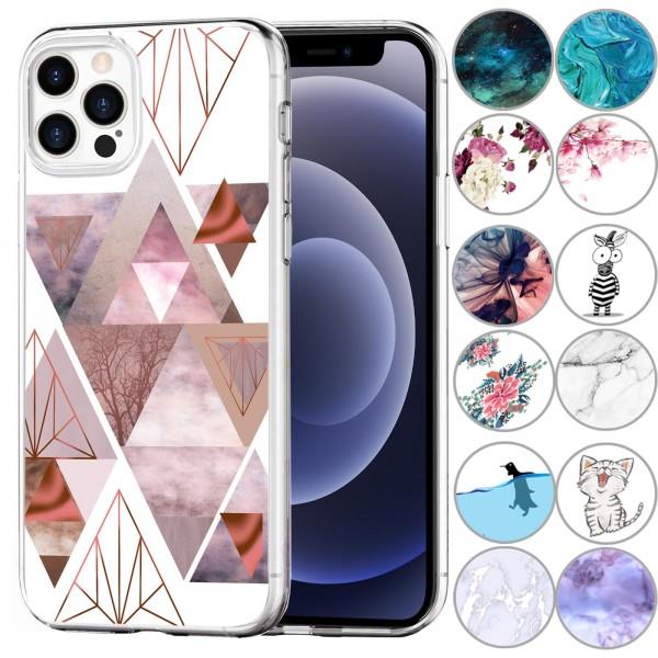 Safers IMD Case für Apple iPhone 12 Pro Max Hülle Silikon Case mit Muster Schutzhülle