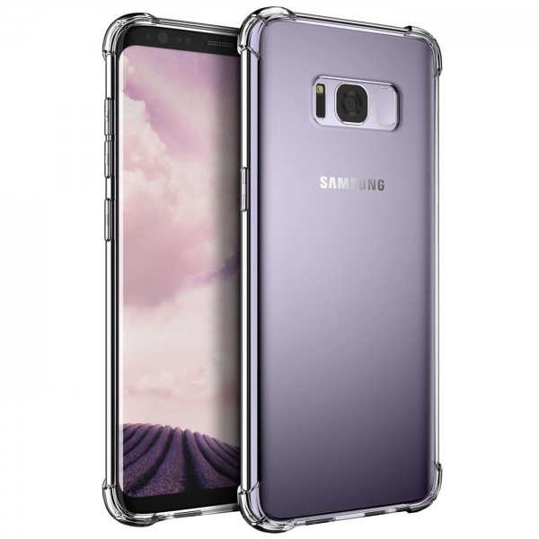 Safers Rugged TPU für Samsung Galaxy S8 Schutzhülle Anti Shock Handy Case Transparent Cover