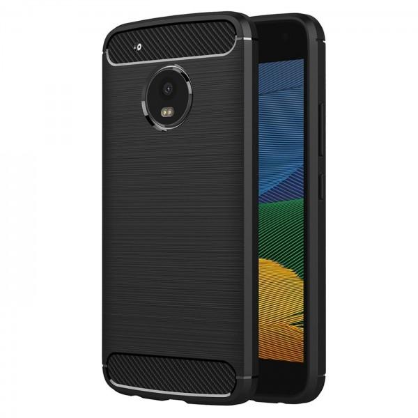 Safers Carbon Hülle für Motorola Moto G5 Schutzhülle Handy Case Cover