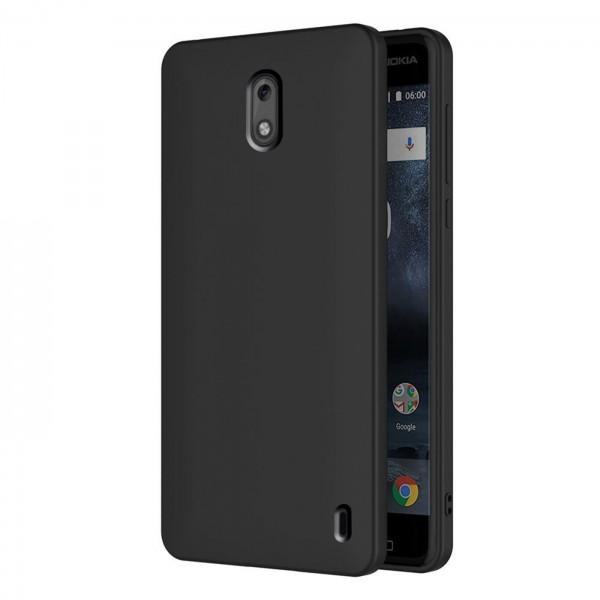 Safers Classic TPU für Nokia 2 Schutzhülle Hülle Schwarz Handy Case