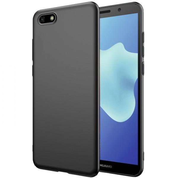 Safers Classic TPU für Huawei Y5 2018 Schutzhülle Hülle Schwarz Handy Case
