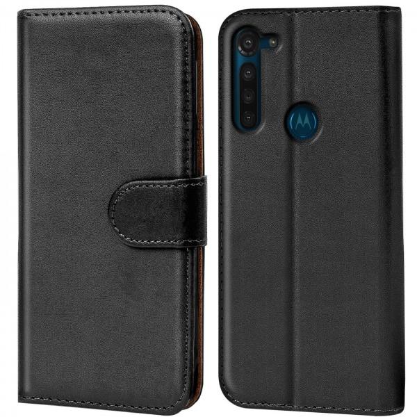 Safers Basic Wallet für Motorola Moto G8 Hülle Bookstyle Klapphülle Handy Schutz Tasche