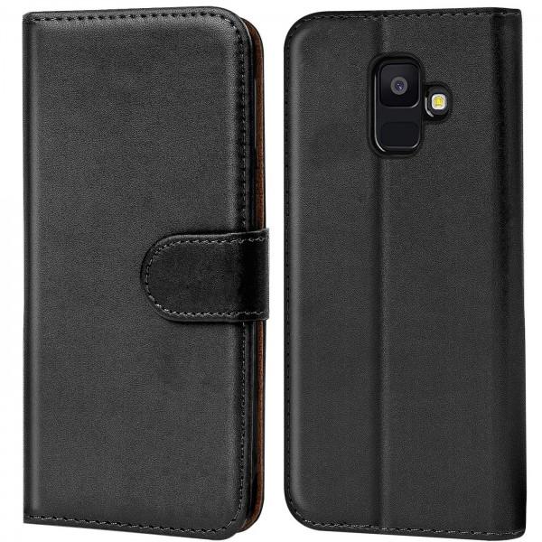 Safers Basic Wallet für Samsung Galaxy J6 2018 Hülle Bookstyle Klapphülle Handy Schutz Tasche