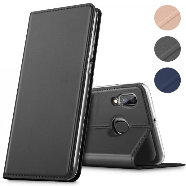 Safers Electro Flip für Samsung Galaxy M20 Hülle Magnet Case Handy Tasche Klapphülle