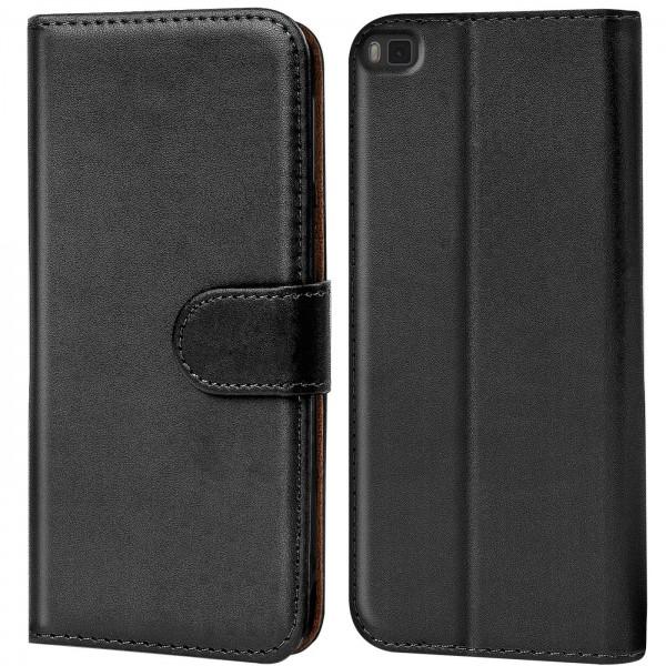 Safers Basic Wallet für Huawei P8 Hülle Bookstyle Klapphülle Handy Schutz Tasche