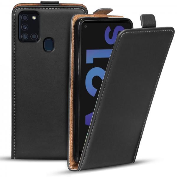 Safers Flipcase für Samsung Galaxy A21s Hülle Klapphülle Cover klassische Handy Schutzhülle