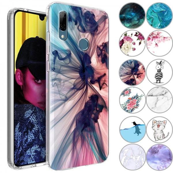 Safers IMD Case für Huawei P Smart 2019 Hülle Silikon Case mit Muster Schutzhülle