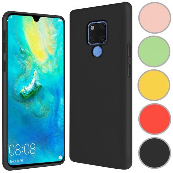 Safers Color TPU für Huawei Mate 20 Hülle Soft Silikon Case mit innenliegendem Stoffbezug
