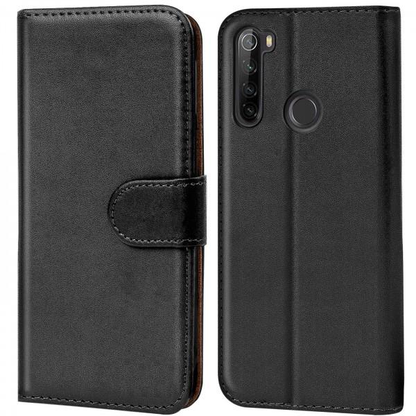 Safers Basic Wallet für Xiaomi Redmi Note 8T Hülle Bookstyle Klapphülle Handy Schutz Tasche