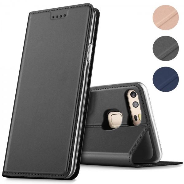 Safers Electro Flip für Huawei P9 Hülle Magnet Case Handy Tasche Klapphülle