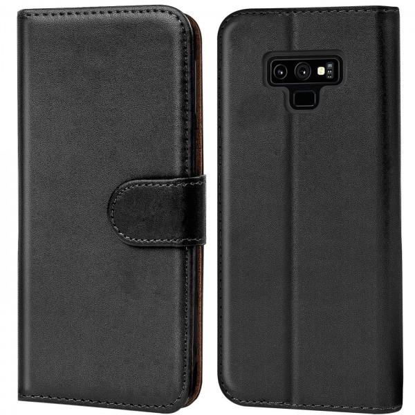 Safers Basic Wallet für Samsung Galaxy Note 9 Hülle Bookstyle Klapphülle Handy Schutz Tasche