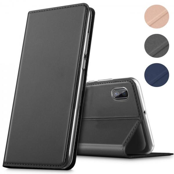 Safers Electro Flip für Huawei Y5 2019 Hülle Magnet Case Handy Tasche Klapphülle