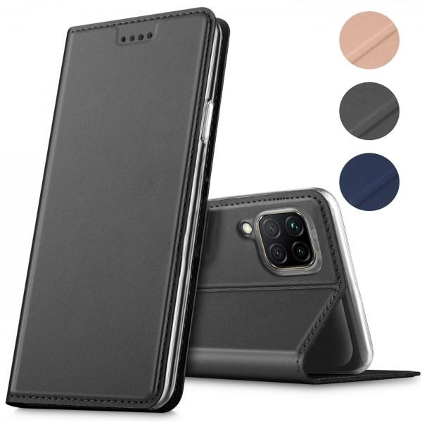Safers Electro Flip für Huawei P40 Lite Hülle Magnet Case Handy Tasche Klapphülle