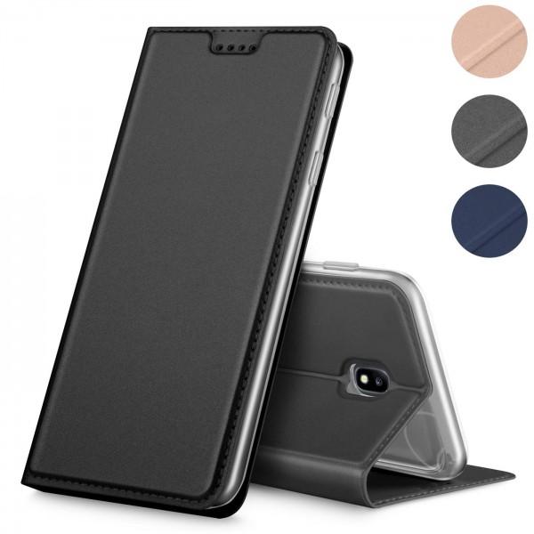 Safers Electro Flip für Samsung Galaxy J5 2017 Hülle Magnet Case Handy Tasche Klapphülle