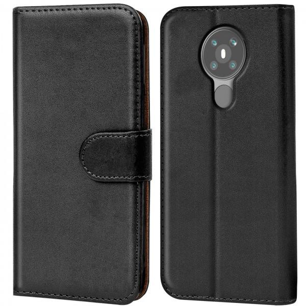 Safers Basic Wallet für Nokia 5.3 Hülle Bookstyle Klapphülle Handy Schutz Tasche