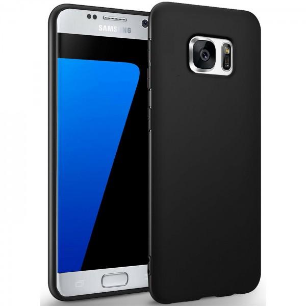 Safers Classic TPU für Samsung Galaxy S7 Schutzhülle Hülle Schwarz Handy Case