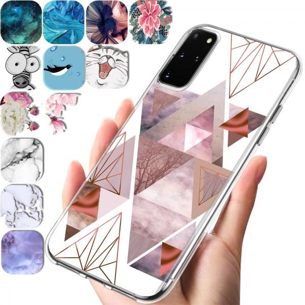 Safers IMD Case für Samsung Galaxy S20 Plus Hülle Silikon Case mit Muster Schutzhülle