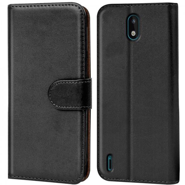 Safers Basic Wallet für Nokia 1.3 Hülle Bookstyle Klapphülle Handy Schutz Tasche