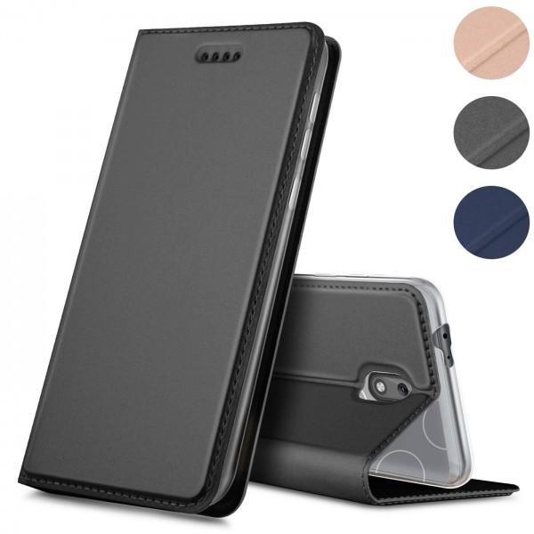 Safers Electro Flip für Nokia 2 Hülle Magnet Case Handy Tasche Klapphülle
