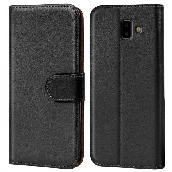 Safers Basic Wallet für Samsung Galaxy J6 Plus Hülle Bookstyle Klapphülle Handy Schutz Tasche