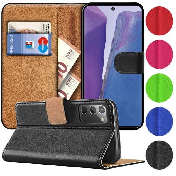 Safers Basic Wallet für Samsung Galaxy Note 20 Hülle Bookstyle Klapphülle Handy Schutz Tasche