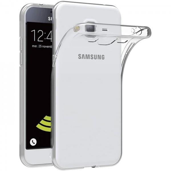 Safers Zero Case für Samsung Galaxy J3 2016 Hülle Transparent Slim Cover Clear Schutzhülle
