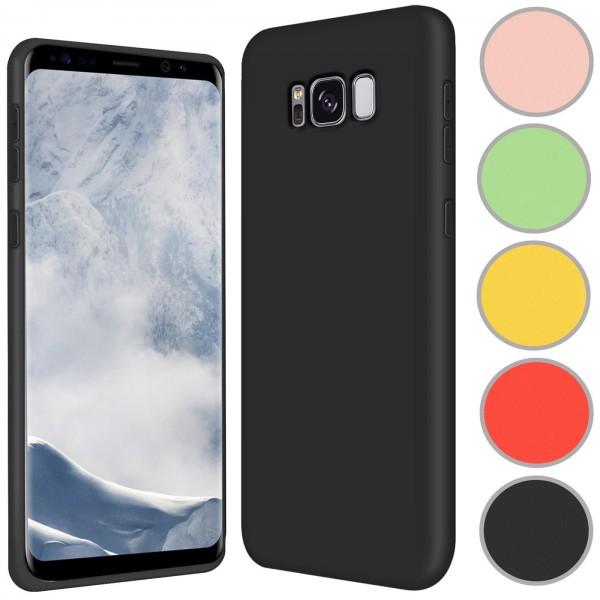 Safers Color TPU für Samsung Galaxy S8 Hülle Soft Silikon Case mit innenliegendem Stoffbezug