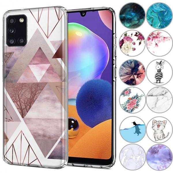 Safers IMD Case für Samsung Galaxy A31 Hülle Silikon Case mit Muster Schutzhülle